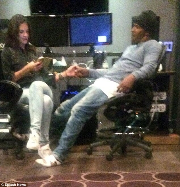 Jamie Foxx with Katies Holmes
